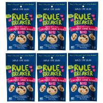 Rule Breaker Snacks Bites Chocolate Chunk Blondie - Vegan, Gluten Free, Nut Free, Allergy Friendly, Kosher and School Safe (6 Pouches)