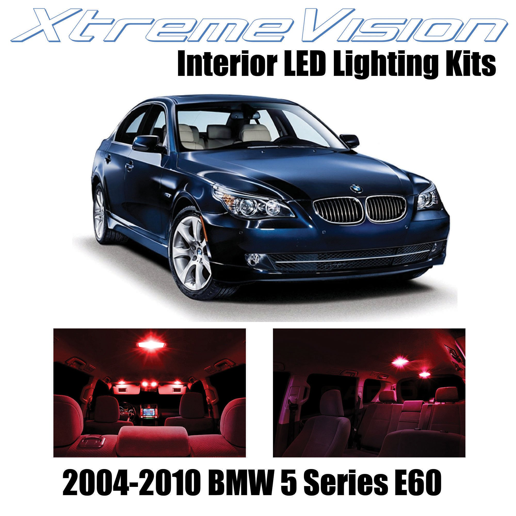 Xtremevision Interior Led For Bmw 5 Series E60 2004 2010 17 Pieces Red Interior Led Kit Installation Tool