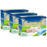 Naturally Nature Overnight Diaper Doubler Booster Pads with Adhesive (96 Count) for Pull-on & Regular Diapers   Nighttime Leak Protection for Heavy Wetters, Diaper Liners for Boys & Girls