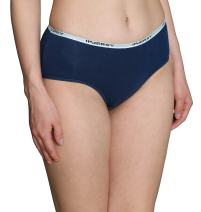 INNERSY Women's 6-Pack Mid Rise Solid Color Stretch Cotton Hipster Panties (XS-2XL)