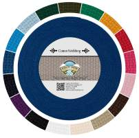 Country Brook Design - Royal Blue Heavy Cotton Webbing with 17 Vibrant Color Options (1 Inch, 50 Yards)