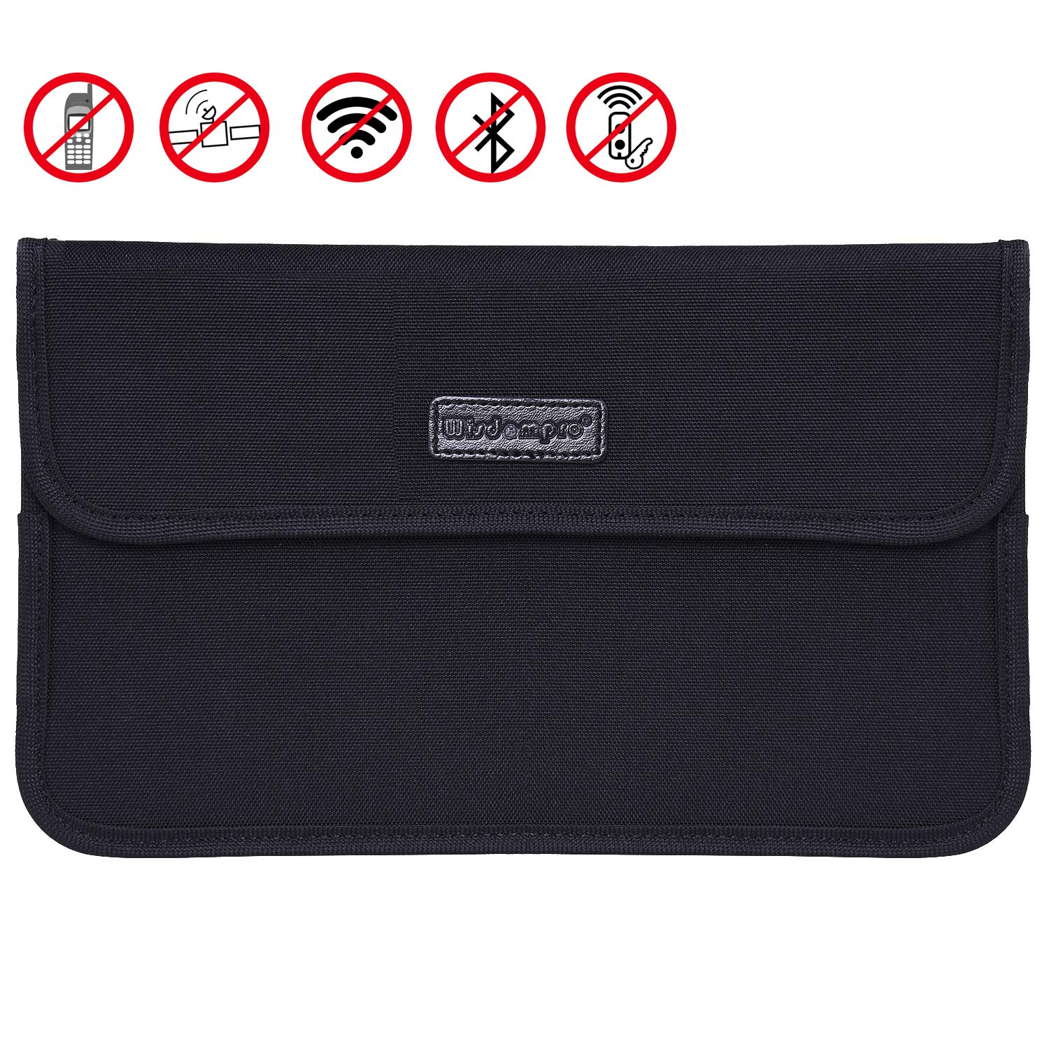Faraday Bag, Wisdompro RFID Signal Blocking Bag Shielding Pouch Case for Cell Phone Privacy Protection and Car Key FOB 9.5 x 5.5 inches