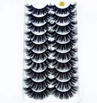 HBZGTLAD 38 Styles 10 pairs natural false eyelashes fake lashes long makeup 3d mink lashes extension eyelash mink eyelashes for beauty (3D122)