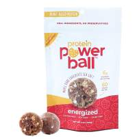 Protein Power Ball Healthy Snacks, Gluten Free, Dairy Free, Soy Free, Vegan Snack Energy Bites | 5 Unique Flavors (Maple Dark Chocolate Sea Salt, 2 Pack)