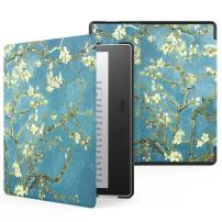 MoKo Case Fits All-New Kindle Oasis (9th and 10th Generation ONLY, 2017 and 2019 Release), Premium Ultra Lightweight Shell Cover with Auto Wake/Sleep - Almond Blossom