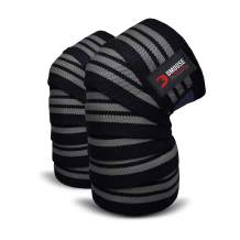 DMoose Knee Wraps for Weightlifting Men and Women Powerlifting, Deadlift, Bodybuilding, Squats and Gym, Fitness, Olympic Workouts, 78 Inches Length (Pair), Reinforced Fastening Knee Straps