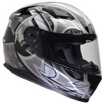 Vega Helmets 6115-014 Ultra Full Face Helmet for Men & Women (Black Shuriken Graphic, Large) 1 pack