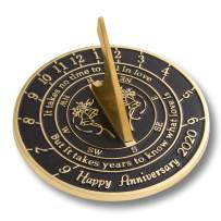 The Metal Foundry 'Love is' 2020 Wedding Anniversary Sundial Gift. Solid Recycled Brass Gift Idea is A Great Present for Him, Her, Parents, Grandparents Or Couple for Any Year of Marriage