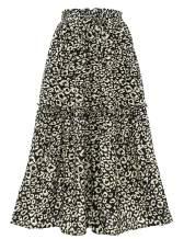 Bbonlinedress Women's Mini Floral Skater Skirt High Waist Summer Boho Short Ruffle Skirt