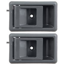 ECCPP Door Handles Interior Inside Inner Front Driver Side Replacement for 1989-1995 Toyota Pickup 4Runner Gray(2pcs)