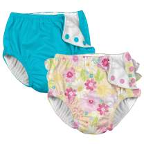 i Play. Baby Girls Cloth Reusable Swim Diaper - 2 Pack