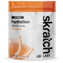 SKRATCH LABS Sport Hydration Drink Mix, Oranges (46.5 oz, 60 servings) - Natural, Electrolyte Powder Developed for Athletes and Sports Performance, Gluten Free, Vegan, Kosher