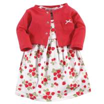 Hudson Baby Girl Cotton Cardigan and Dress