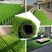 · Petgrow · Deluxe Realistic Artificial Grass Turf 6FTX6FT, 70 oz Face Weight/Drainage Holes/Rubber Backing, Indoor Outdoor Pet Faux Synthetic Grass Astro Rug Carpet for Garden Backyard Patio Balcony