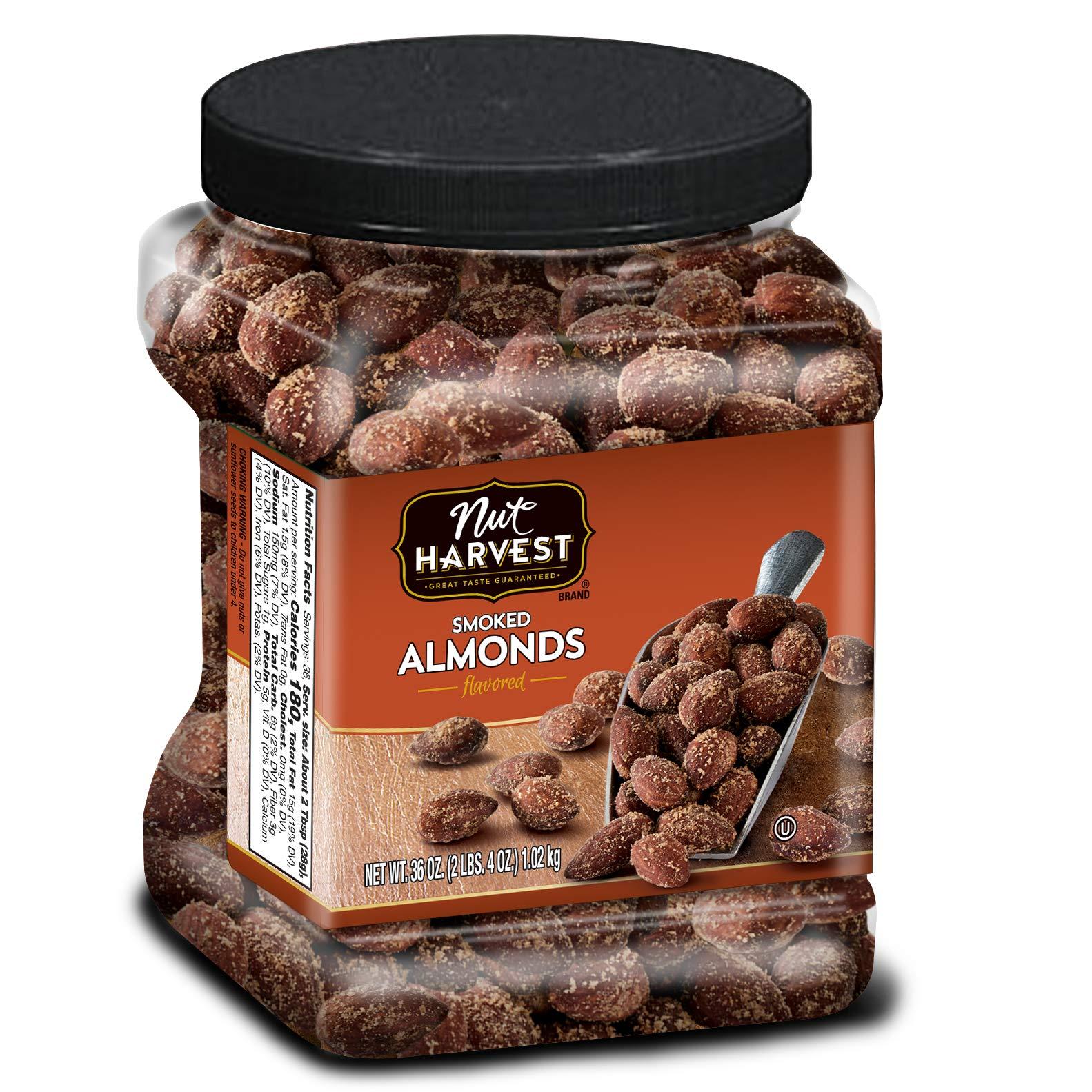 Nut Harvest Almonds, Smoked, 36 Ounce