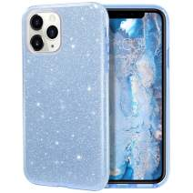 MILPROX iPhone 11 Pro Max Case, Bling Sparkly Glitter Luxury Shiny Sparker Shell, Protective 3 Layer Hybrid Anti-Slick Slim Soft Cover for iPhone 11 Pro Max 6.5 inch (2019)-Blue