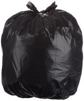 AmazonBasics 32 Gallon Large Trash Can Liner, Lawn and Leaf, 1.1 mil, Black, 150-Count