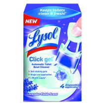 Lysol Automatic Toilet Bowl Cleaning Click Gel, Lavender Scent, 4 Count (Pack of 5)