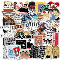 Movie Friends Themed Vinyl Stickers for Personalize Laptop, Car, Helmet, Skateboard, Luggage Graffiti Decals (Friends)