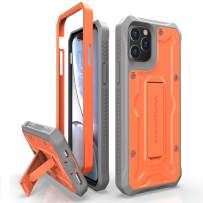 ArmadilloTek Vanguard Designed for iPhone 11 Pro Case (5.8 inches) Military Grade Full-Body Rugged with Kickstand and Built-in Screen Protector - Orange