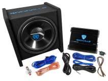 "Rockville RV12.1C 600w 12"" Loaded Car Subwoofer Enclosure+Mono Amplifier+Amp Kit"