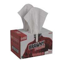 Brawny Professional D400 Disposable Cleaning Towel by GP PRO (Georgia-Pacific), 20080/03, White, 152 Towels Per Box