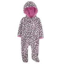 Baby Footed Fleece Jumpsuit Pram Suits – Warm, Fuzzy Hooded Snowsuits for Boys, Girls 0-3, 6-9 Months
