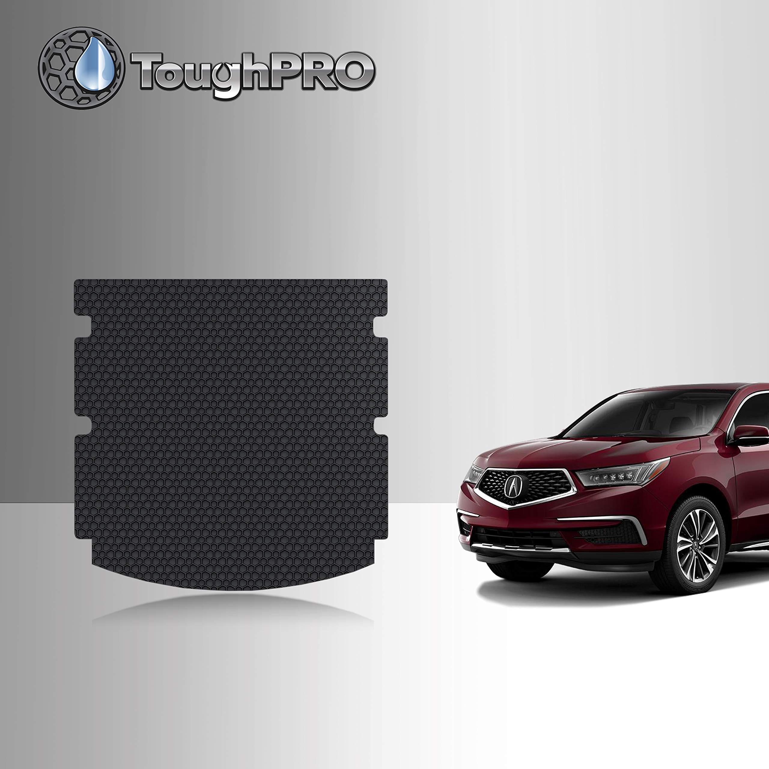 TOUGHPRO Cargo/Trunk Mat Compatible with Acura MDX - All Weather - Heavy Duty - (Made in USA) - Black Rubber - 2014, 2015, 2016, 2017, 2018, 2019, 2020