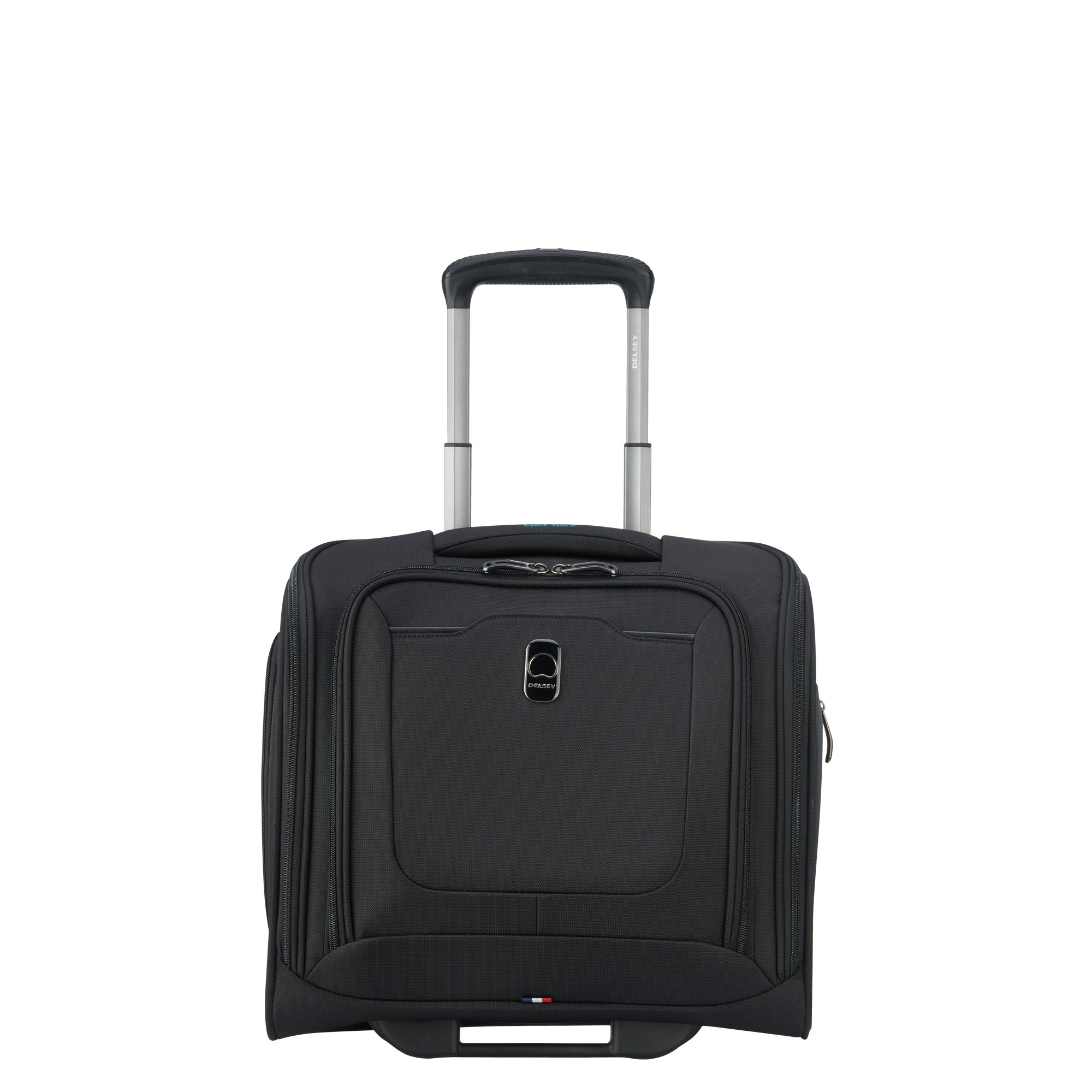 DELSEY Paris Hyperglide Softside Luggage Under-Seater with 2 Wheels, Black, Carry-on 15 Inch