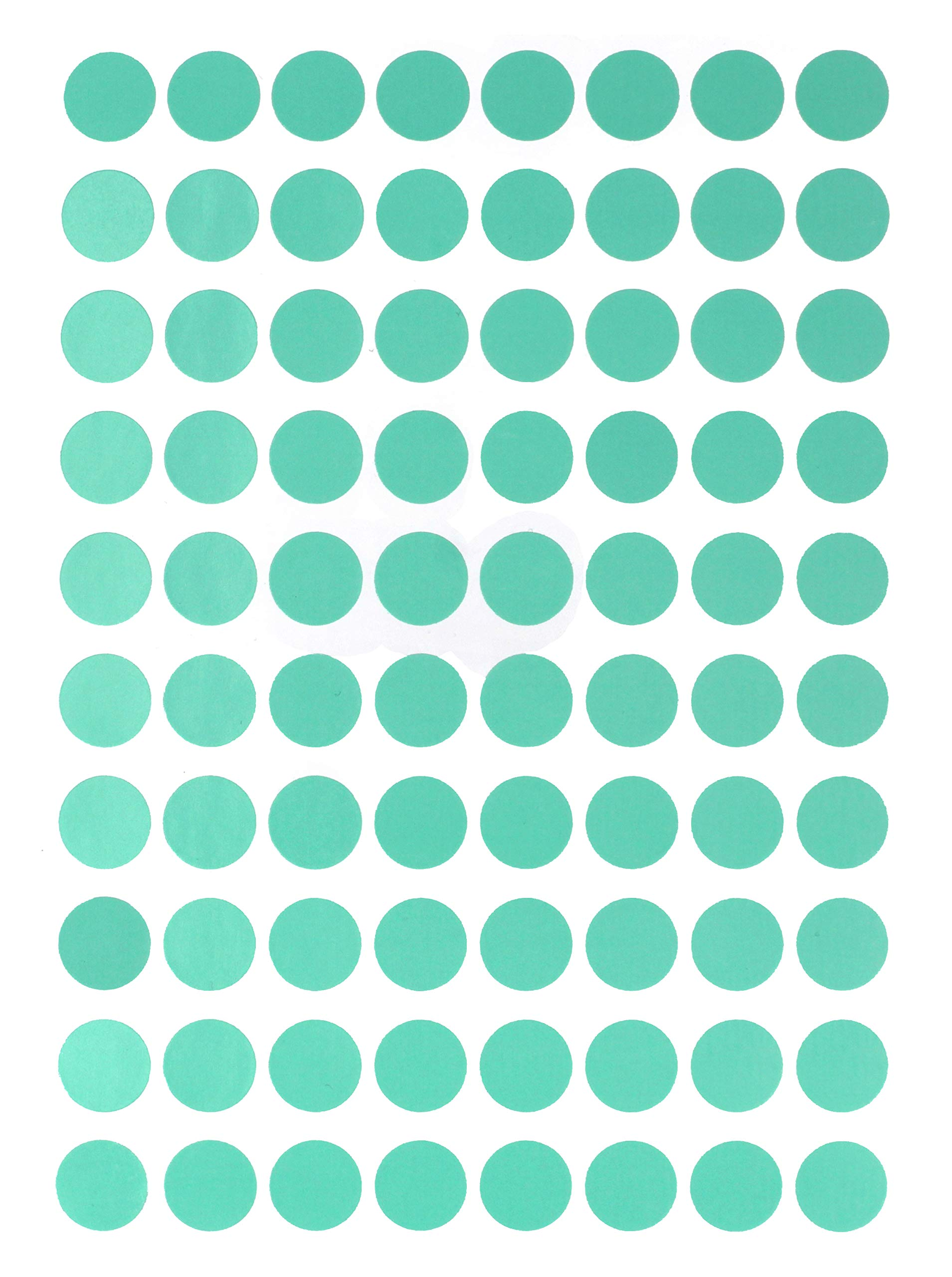 Royal Green Soft Colored Stickers in Green - 1/2 inch (13mm) - Pastel Decorative Multipurpose adhesives - Spring Colors for Color Coding - 1200 Pack