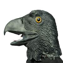 ifkoo Black Eagle Mask Novelty Halloween Costume Latex Animal Birds Head Mask Adults Party Decoration Props