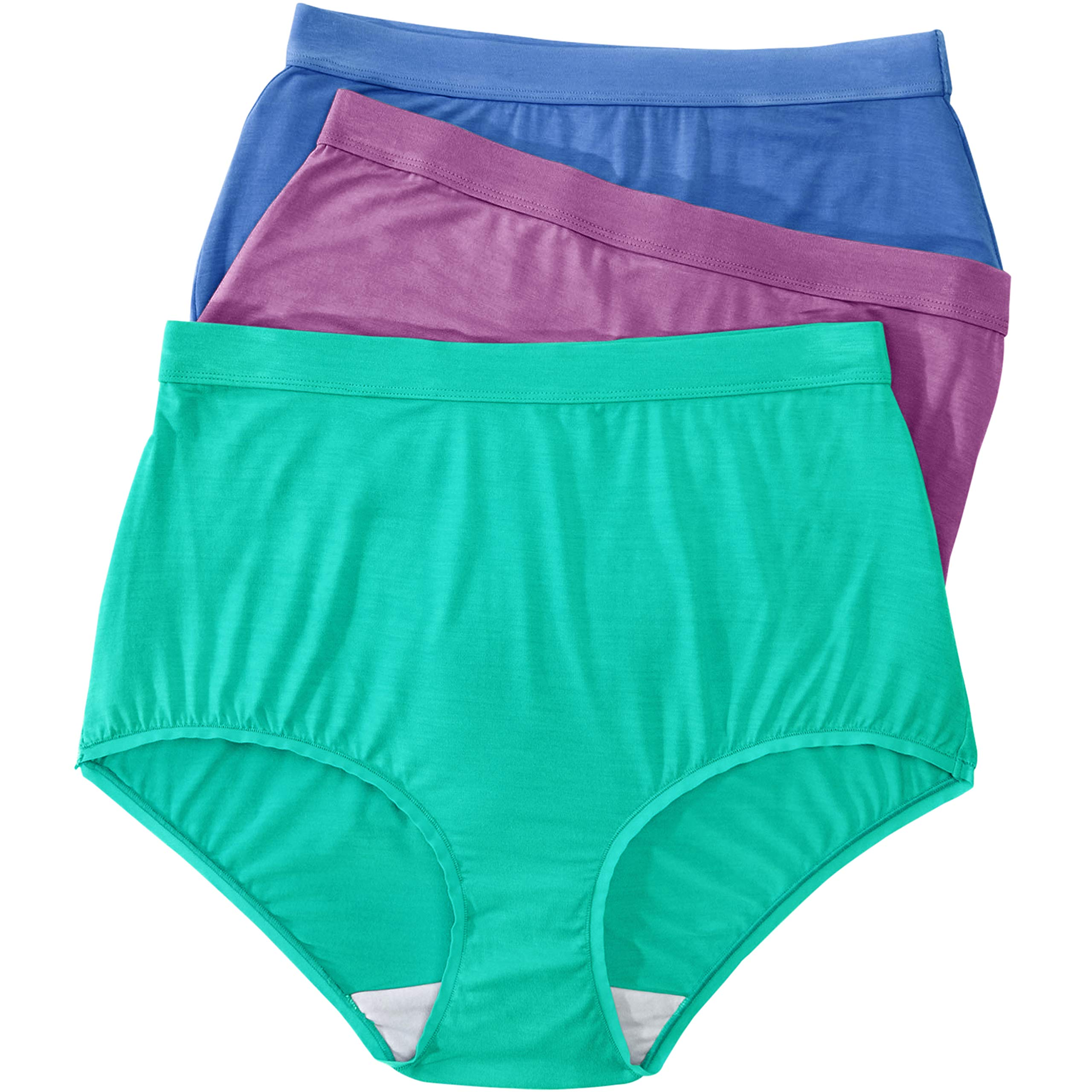 Comfort Choice Women's Plus Size 3-Pack Modal Full-Cut Brief