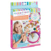 Make It Real - Bedazzled! Charm Bracelets - Graphic Jungle. DIY Charm Bracelet Making Kit for Girls. Arts and Crafts Kit to Create Tween Bracelets with Beads and Matching Tattoo Stickers