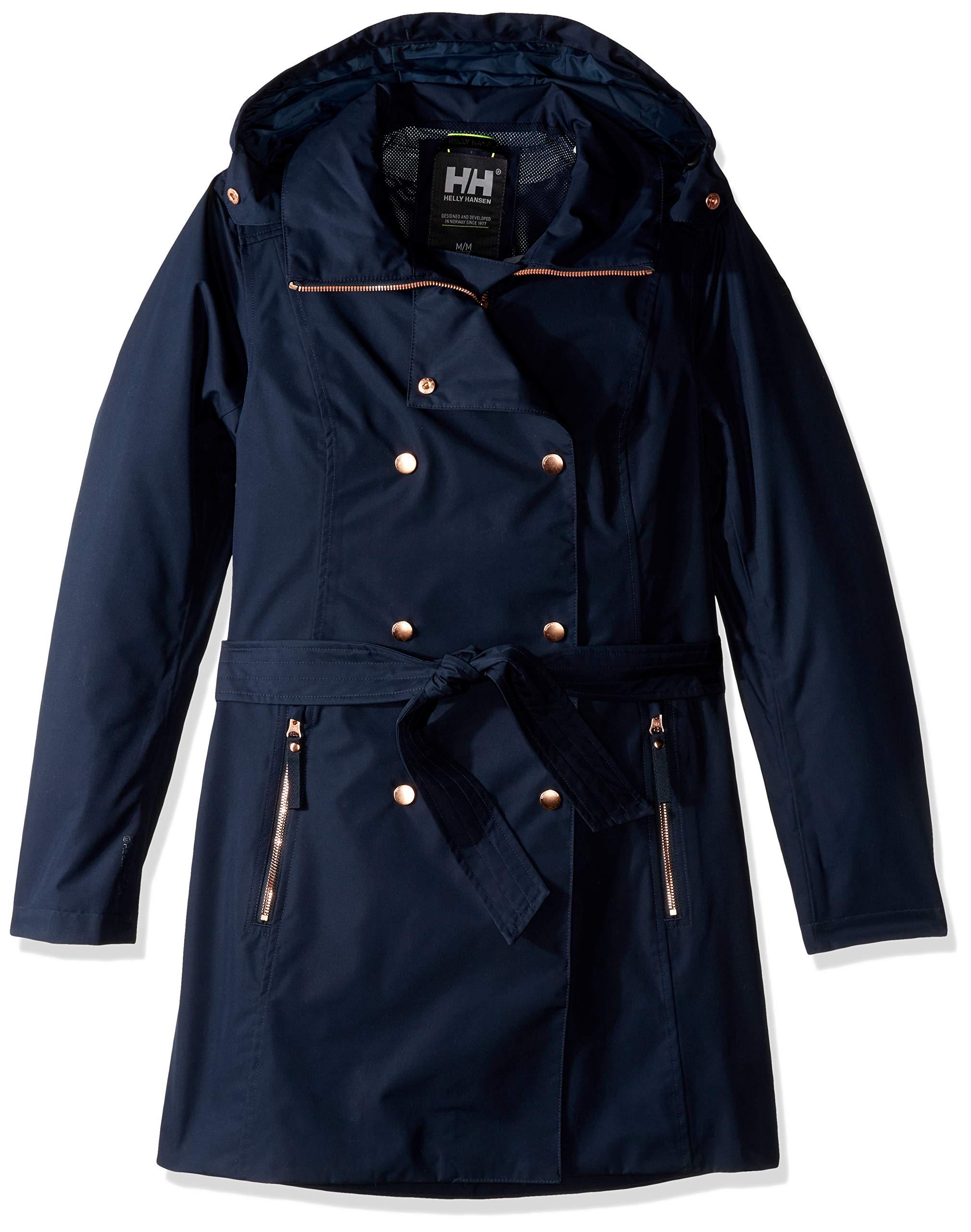 Helly-Hansen Welsey Ii Waterproof Rain Trench Coat with Hood WELSEY II Trench Coat