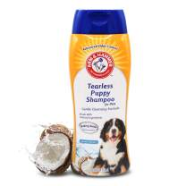 Arm & Hammer Tearless Puppy Shampoo   Tearless Dog Shampoo Gently Cleans & Deodorizes, Coconut Water Scent, 16 oz