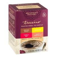Teeccino Chicory Roasted Herbal Tea Sampler Pack (French Roast, Hazelnut, Vanilla Nut and Chocolaté), Caffeine Free, 12 Tea Bags (Pack of 2)