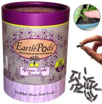 EarthPods Premium African Violet Plant Food - Easy Organic Fertilizer Spikes - 100 Capsules - Stimulates Flower Bloom + Leaves (Great for All Blooming Indoor Houseplants, No Urea, Ecofriendly)