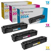 LD Compatible Toner Cartridge Replacement for HP 202A (Cyan, Magenta, Yellow, 3-Pack)