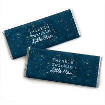 Twinkle Twinkle Little Star - Candy Bar Wrappers Baby Shower or Birthday Party Favors - Set of 24