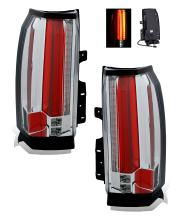 SPPC GMC Yukon LED Taillight All Chrome Assembly Set (Pair) Driver Left and Passenger Right Side Replacement