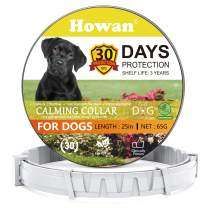 Calming Collars for Dogs, Adjustable Dog Collars- 30 Days Protection, Reduce Anxiety Dogs- Long-Lasting Calming Effect- 25 Inch (Gray)