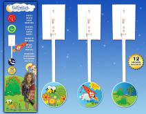 KidSwitch Lightswitch Extension for Toddlers - Laurie Berkner Edition - 3 Count - Includes 12 Themed Art Decals - Multi-Award Winning!