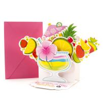 Hallmark Pop Up Mother's Day Card with Song (Fruity Cocktail, Plays Coconut by Harry Nilsson)