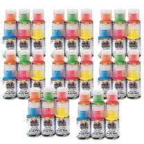 Color Splash! 1-oz Neon Acrylic Paint Pass Around Pack (Pack of 48)