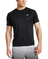 Mission Men's VaporActive Alpha Short Sleeve Athletic Shirt, Moonless Night, X-Large