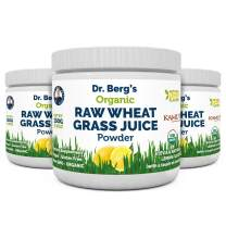 Dr. Berg's Organic Raw Wheat Grass Juice Powder with KamutTM - Natural Lemon Flavor - Rich in Vitamins, Chlorophyll & Trace Minerals - BioActive Dehydration & Ultra-Concentrated Nutrients (3 Pack)