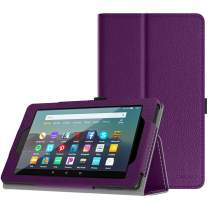 TiMOVO Case Fits All-New Fire 7 Tablet (9th Generation, 2019 Release) - Lightweight Smart Shell Slim Folding Cover Case with Auto Wake/Sleep Fit Amazon Fire 7 Tablet - Purple