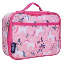 Wildkin Kids Insulated Lunch Box Bag for Boys and Girls, Perfect Size for Packing Hot or Cold Snacks for School and Travel, Measures 9.75 x 7 x 3.25 Inches, BPA-Free, Olive Kids (Magical Unicorns)