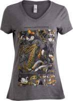 Vintage Bird Art | Nature Birding Watcher Watching Ornithology V-Neck T-Shirt for Women