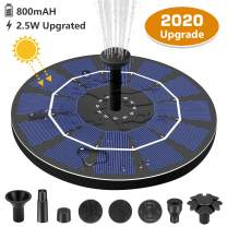 Gocheer Upgraded Solar Fountain, 8 Nozzles Bird Bath Backyard Solar Fountain Pump with 800 mAh Battery Backup Solar Powered Water Bubbler Pump for Garden Birdbath Pond Outdoor